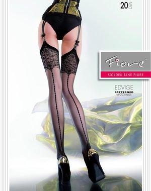 Fiore Stockings met fraaie barok print