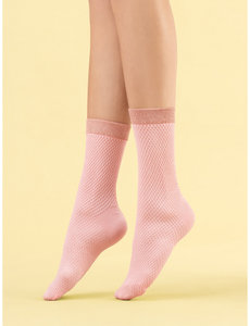 Fiore Roze sokken van 60 denier