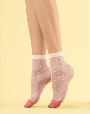 Fiore Panna cotta sokken van 8 denier