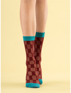 Fiore Check Twice - 20 DEN sokken