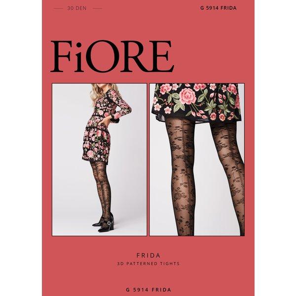 Fiore panty met print van bloemen - 30 denier