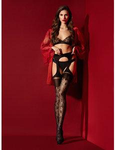 Fiore Sensuele strippanty met print - 30 denier