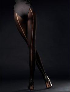 Fiore Zwarte naadpanty - 60 denier