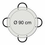 Paella world Paellapan, gepolijst staal, Ø 90 cm, met 4 grepen