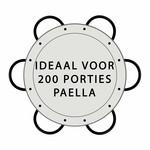 Paella world Paellapan, gepolijst staal, Ø 130 cm, met 6 grepen