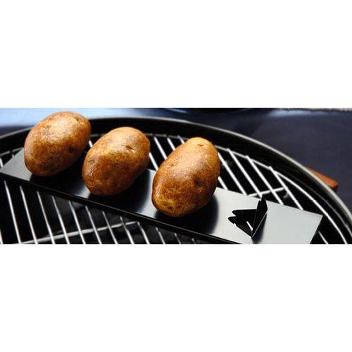 ALL' GRILL Aardappelhouder (aardappelrek) van roestvrij staal
