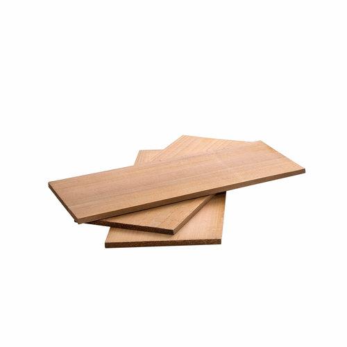 ALL' GRILL Cederhouten planken set, 3 stuks elk 30 x 13 x 1 cm