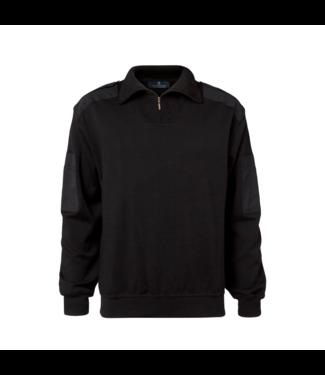 CC55 Pullover korte rits Zwart