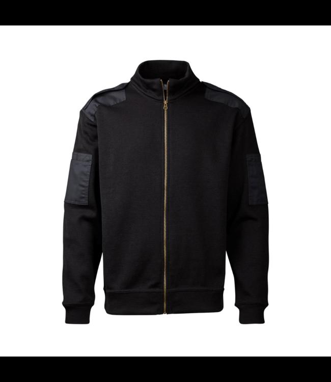 CC55 Vest long zip Black