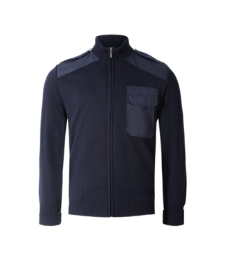 CC55 Vest long zip with chest pocket Navy