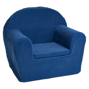 Kinderfauteuil Jeansblauw - ribstof