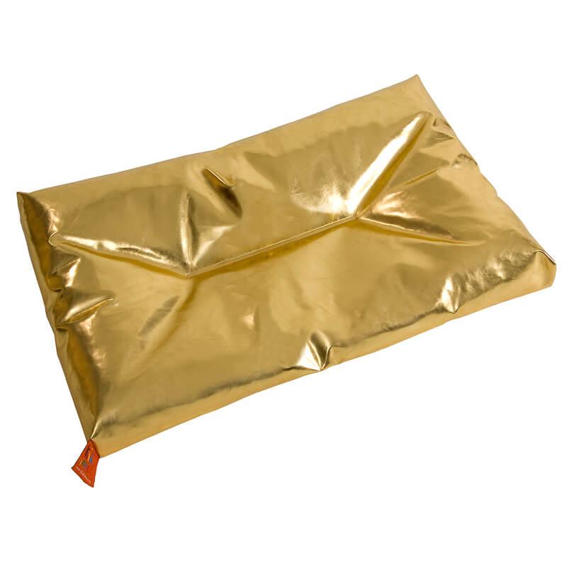 Aankleedkussen XXL zilver, goud, metallic & PIPI van La Place