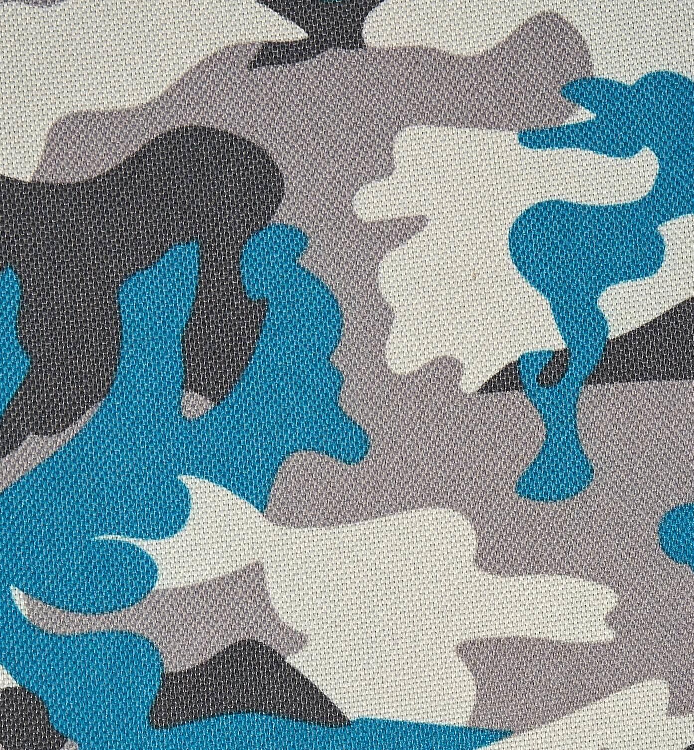 KIdZ ImpulZ speelkleden, en aankleedkussensen zitzakken in camouflage print aqua