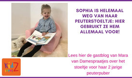 Gastblog: Sophia is helemaal weg van haar peuterstoeltje: hier gebruikt ze hem allemaal voor!