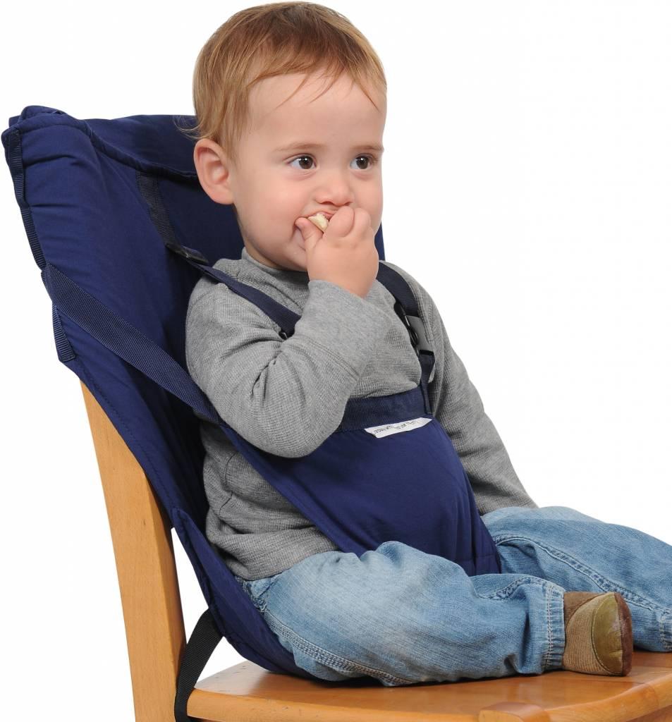 Opvouwbare Reis Kinderstoel.Sack N Seat Donkerblauw Gratis Verzending Kidz Impulz
