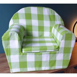 Kinderfauteuil Lime - Grote ruit -  slechts 1 beschikbaar!