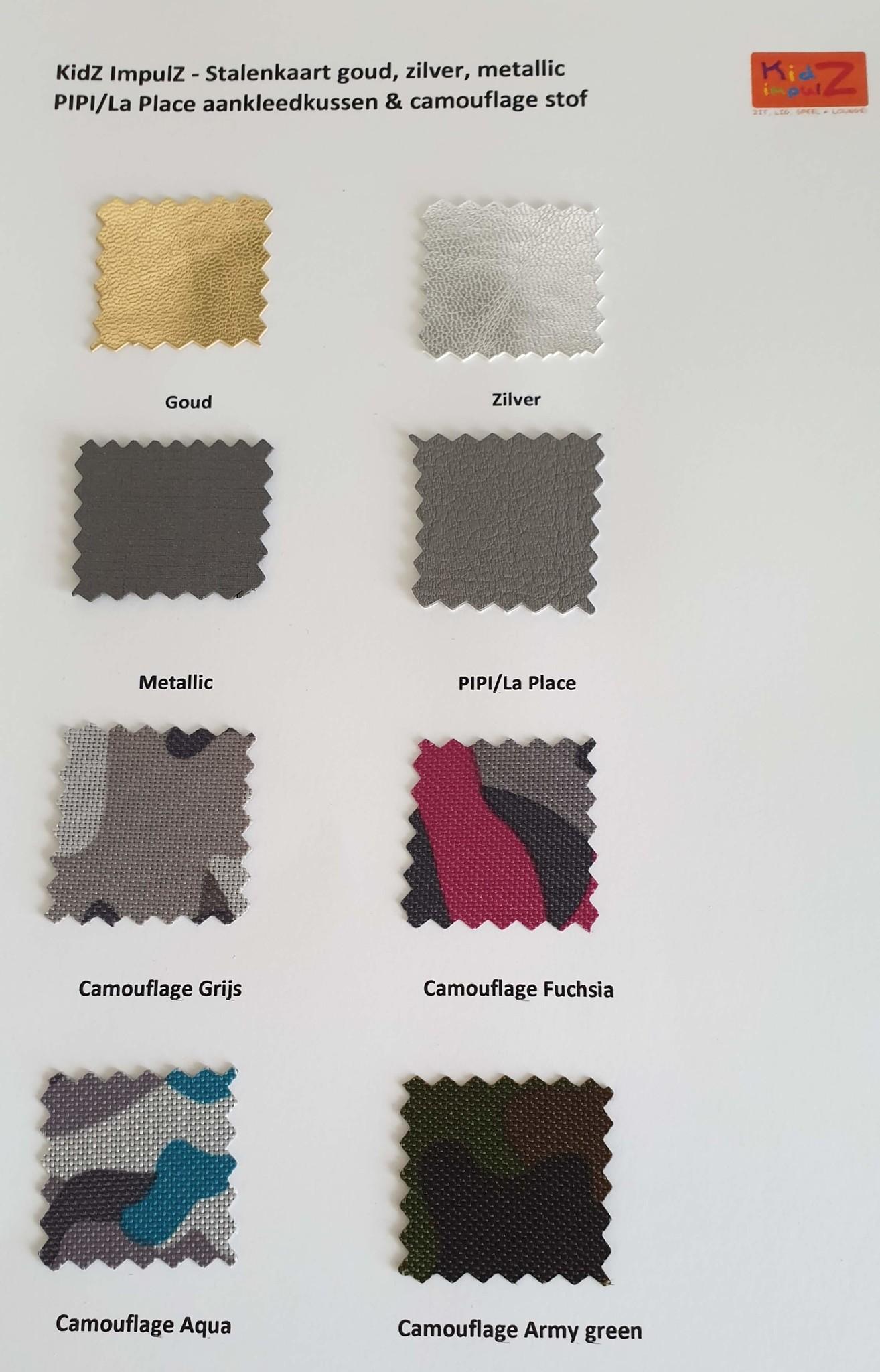 Kleurkaar goud, zilver, pipi camouflage KidZ ImpulZ