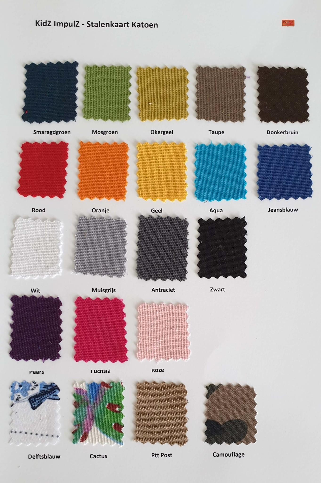 Kleurkaart katoen KidZ impulZ