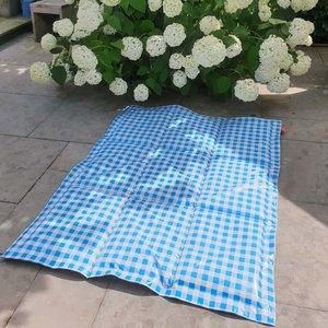 Nieuw! Speelkleed tafelzeil - ruit print aqua - al vanaf €69.95