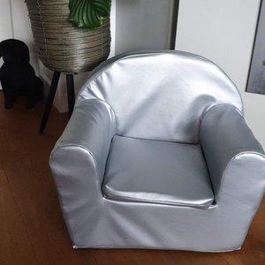 Kinderfauteuil zilver- Leatherlook - prototype