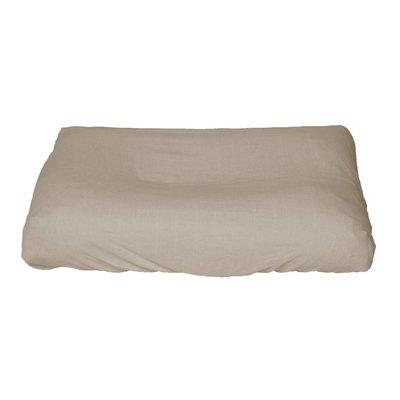 Hoes Taupe voor standaard formaat aankleedkussen (70/75*50/55 cm)