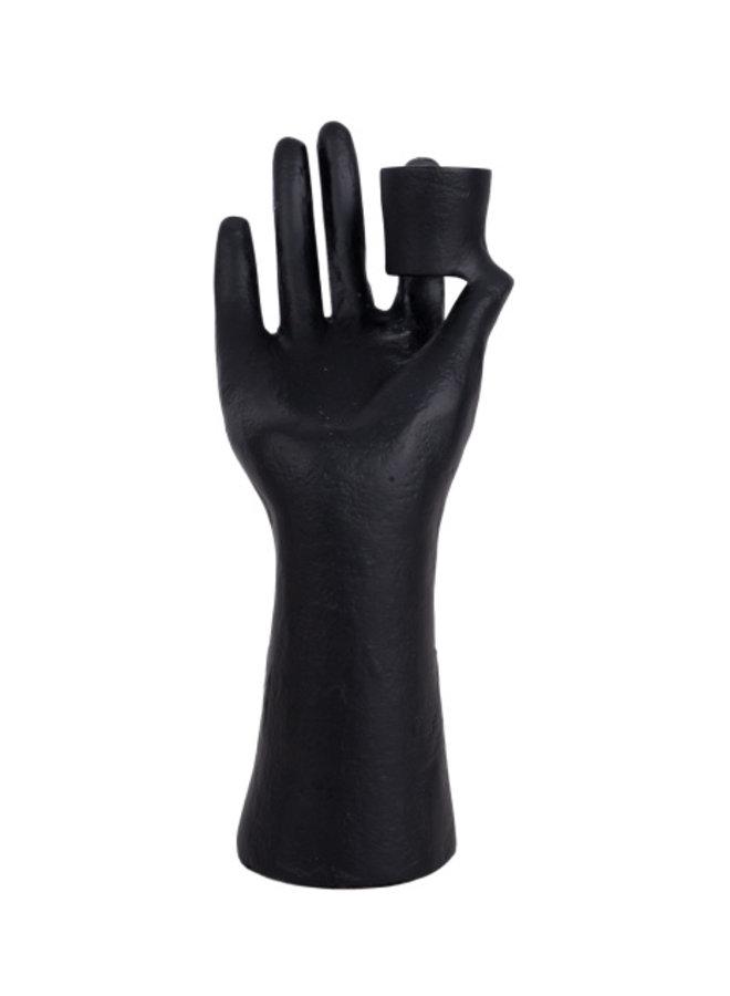 Kandelaar Hand Zwart