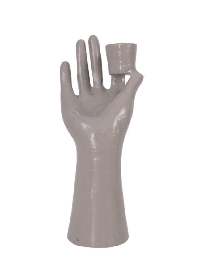 Kandelaar Hand Grijs