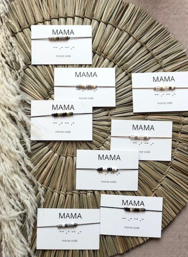 Armband Morsecode Mama