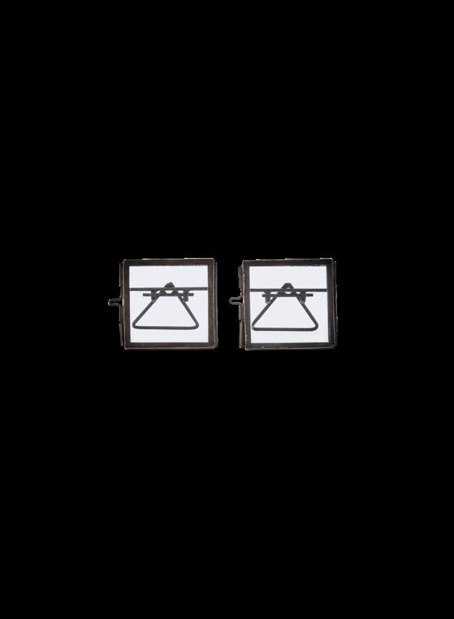 Fotolijstjes Mini Zwart Set van 2 5x5cm