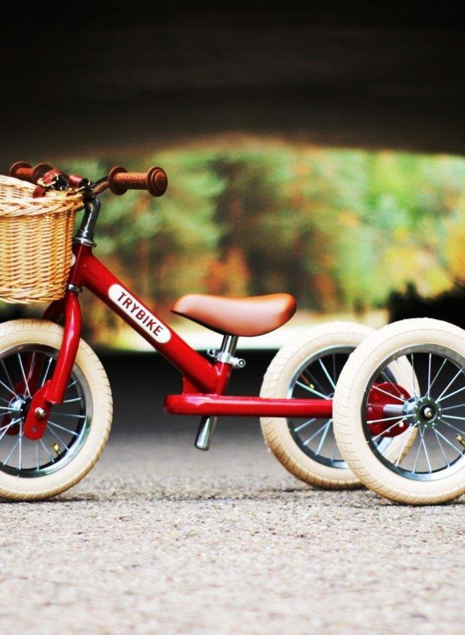 Trybike Steel Vintage Rood - Driewieler