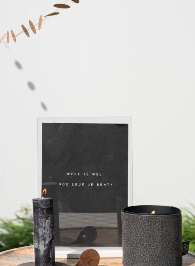 Stompkaars Zwart - 4,5 cm