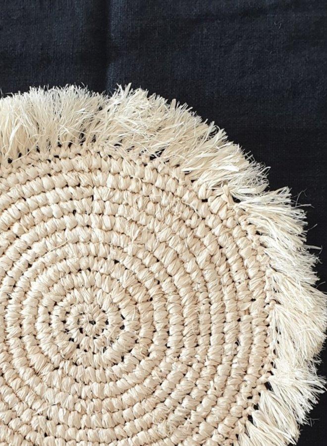 Wanddeco | Placemat Zeegras Gebleekt 35 cm