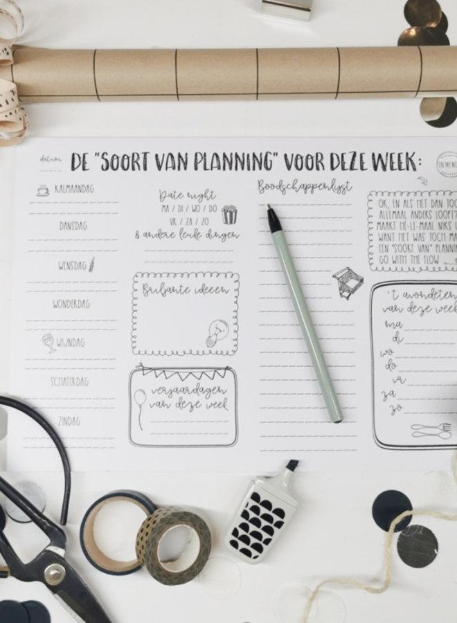 Weekplanner 'Soort van Planning'