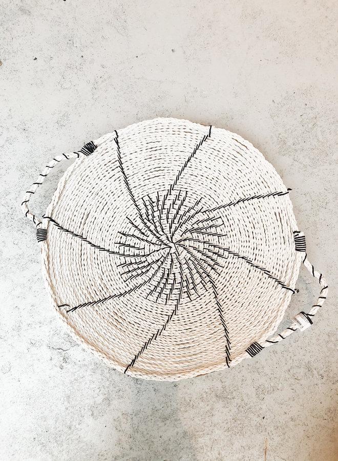 Wandschaal Wit met Hengsels 60 cm