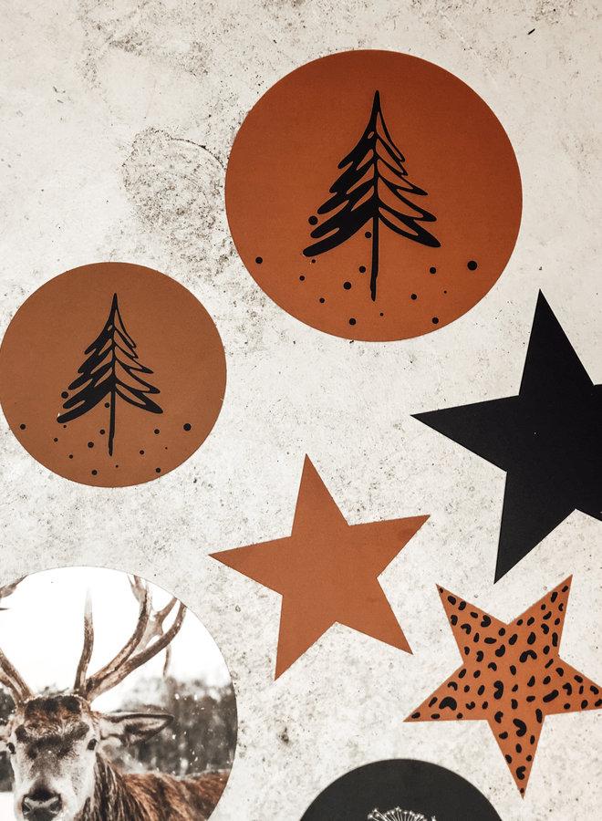 Muurcirkel Denneboom Hazelbruin 30 cm