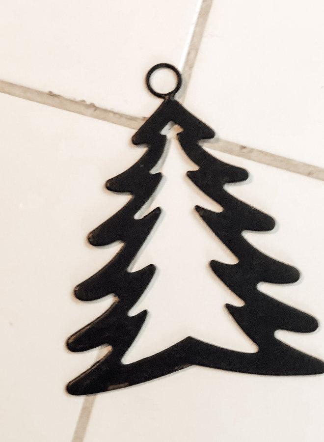 Kersthanger Denneboom Metaal Zwart 12 cm