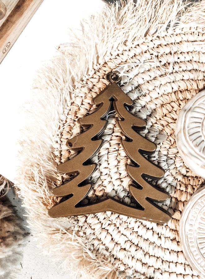 Kersthanger Denneboom Goud 17 cm