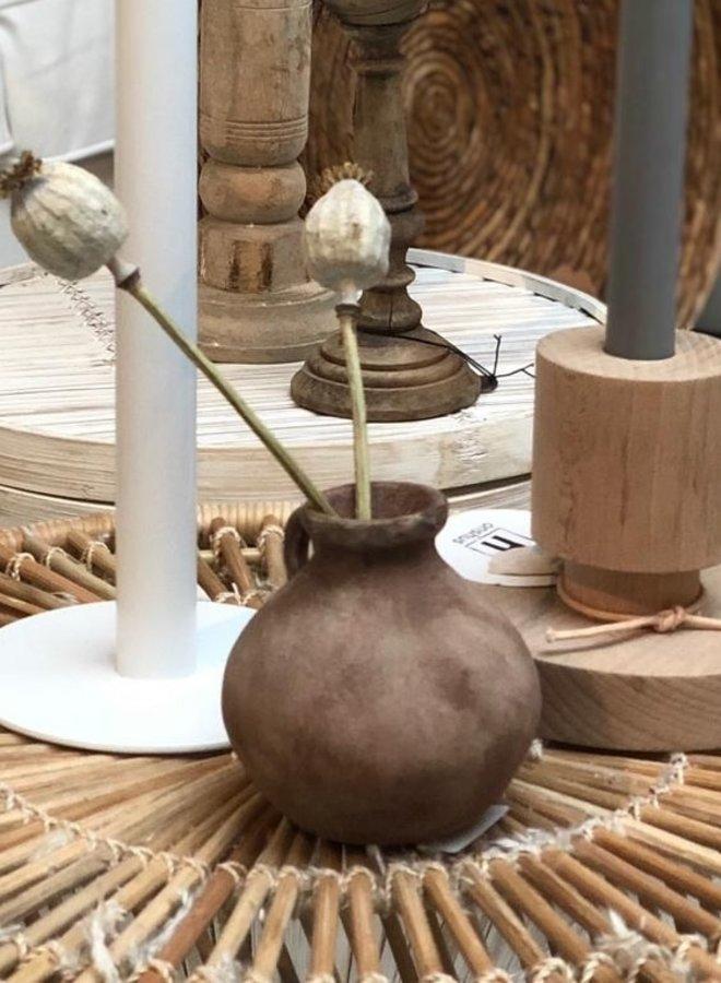Vaasje Stoneware 9,5 cm Nude