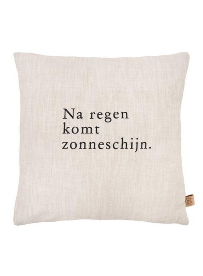 Kussen Na Regen Komt 45x45 cm Peper&Zout