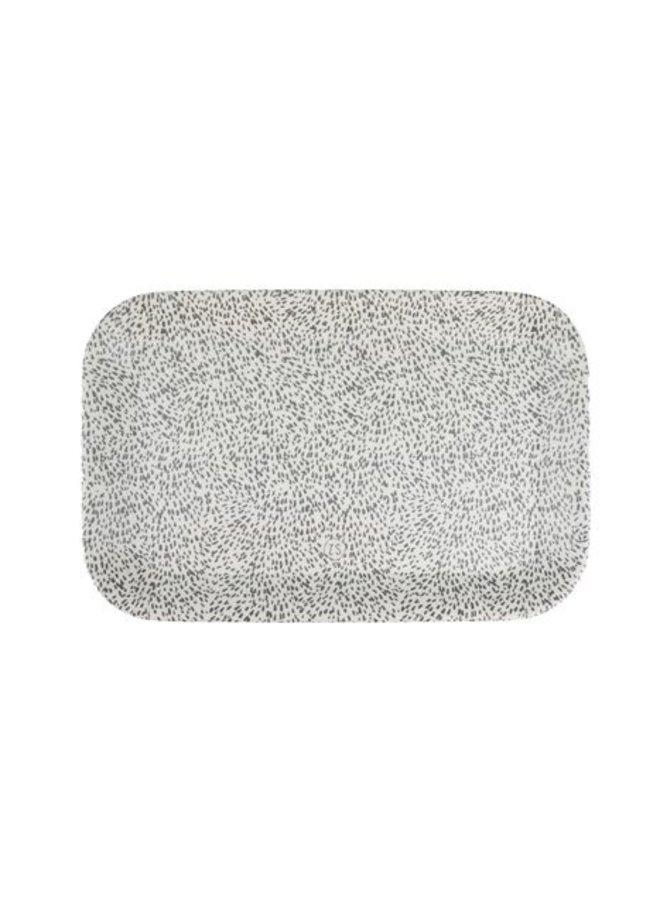Melamine Dienblad Spikkels 29x19 cm Zand