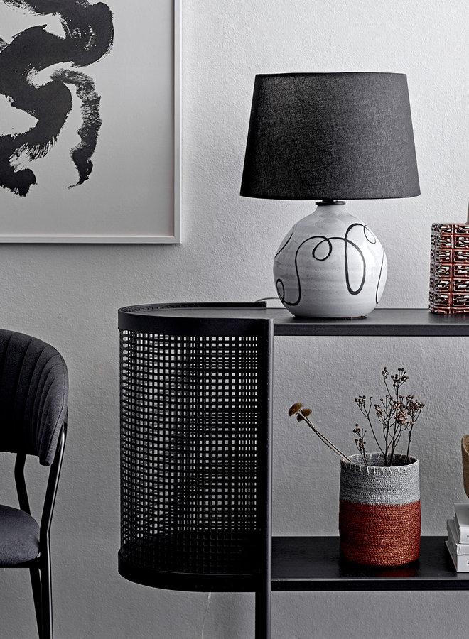Tafellamp Zwart Wit Terracotta 40 cm