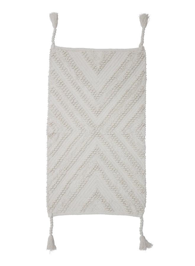 Vloerkleed | Wandkleed Ecru Katoen 95x55 cm