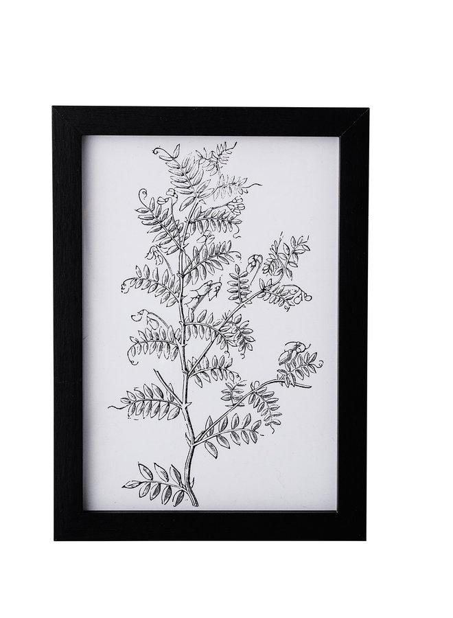 Fotolijst Hout Zwart 16,5x23 cm incl. Artposter