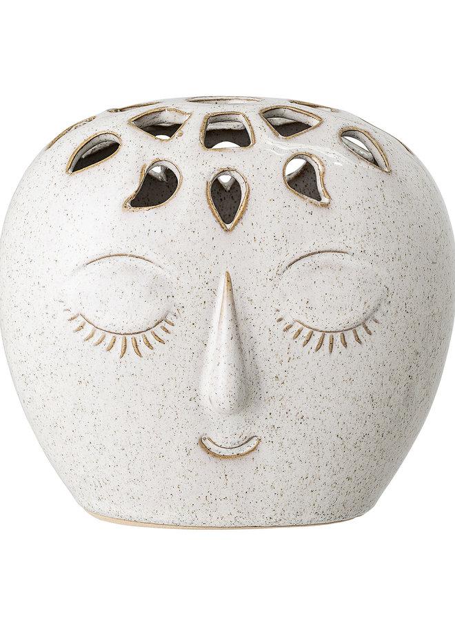 Vaas Face Wit Keramiek 15 cm