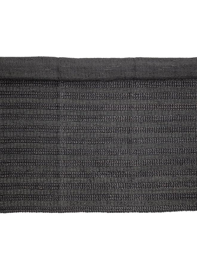 Vloerkleed Jute Zwart 210x150 cm