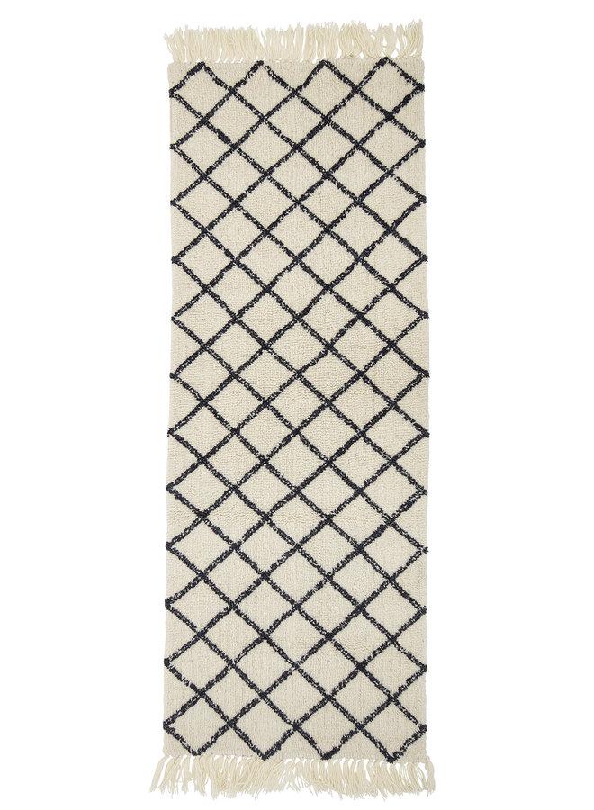 Vloerkleed Wol 200x70 cm