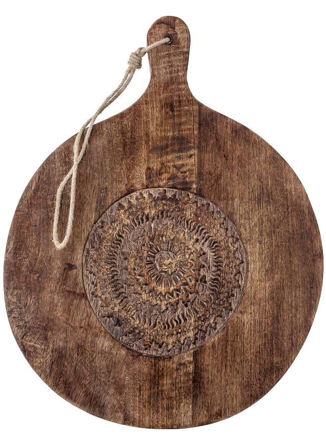 Serveerplank Mangohout Handcarved 49,5 cm