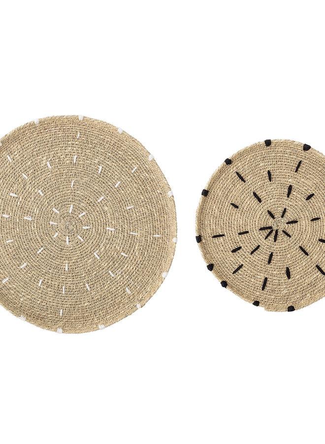 Wandschaal Zeegras Wit Stiksel 25,5 cm