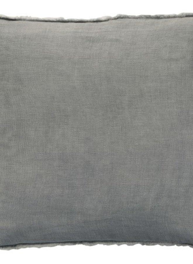 Kussen Stonewashed Linnen Blauwgrijs 45x45 cm