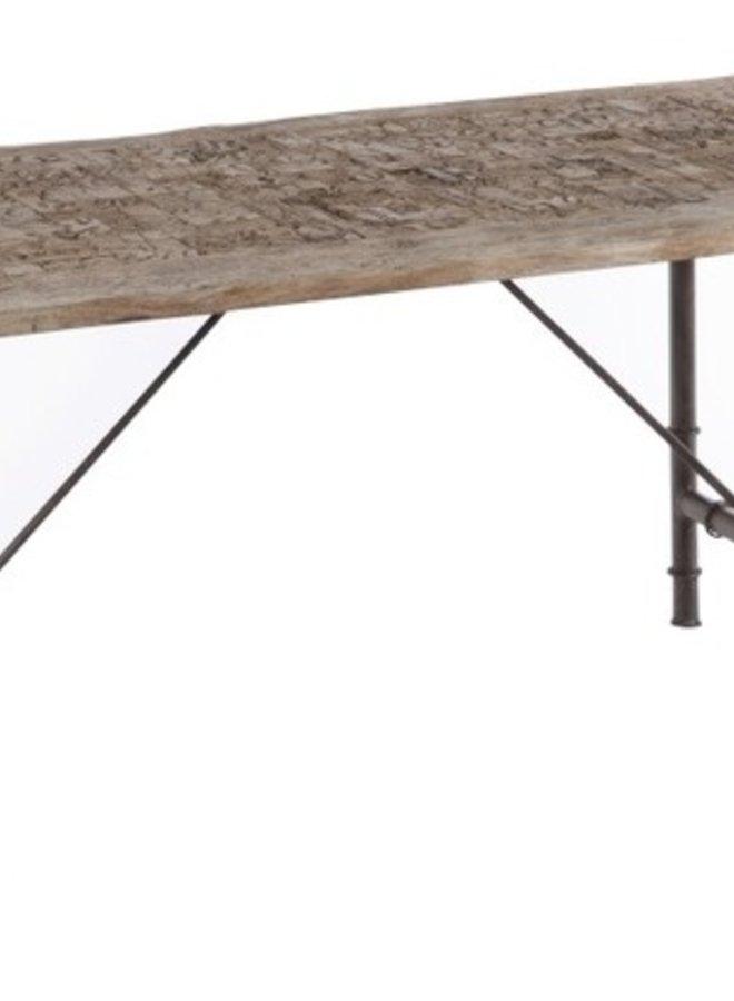 Eettafel Hout Grijs 180x90 cm